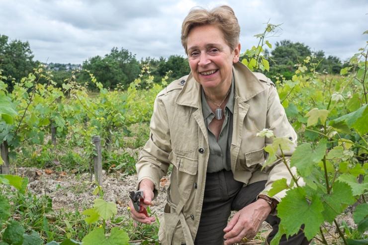 Savennières, Evelyne de Pontbriand, Domaine du Closel, Chateau des Vaults, gueules de vignerons, vigneron bio, vignerons d'Anjou, vin biodynamie, organic wine, winemaker, Jean-Yves bardin photographe Gueules de vignerons, portraits de vignerons, vignes Savennières, la Jalousie, les Caillardières, Clos du Papillon
